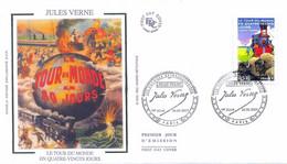 Enveloppe 1er Jour Personnages Célèbres 2005, Jules Verne, Le Tour Du Monde En 80 Jours, 2005 (YT 3793) - 2000-2009