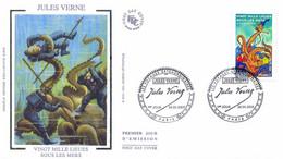 Enveloppe 1er Jour Personnages Célèbres 2005, Jules Verne, 20 000 Lieues Sous Les Mers, 2005 (YT 3794) - 2000-2009