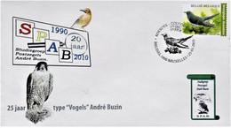 Kleine FDC SPAB Met Stempel 1ste Dag Brussel 25-01-2021 - 1985-.. Oiseaux (Buzin)