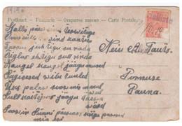 Provinsional Line Cancellation HALLISTE On PC,1919.Estonia,Estland - Estonie