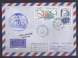 TAAF N° 128/140 SUR LETTRE DE PORT AUX FRANCAIS/2.10.90 POSTE A BORD - Lettres & Documents