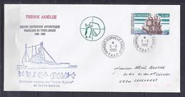 TAAF N° 135 SUR LETTRE DE DUMONT D URVILLE/9.3.88  // 38° EXPEDITION ANTARCTIQUE - Lettres & Documents