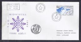 TAAF N° 142 SUR LETTRE DE DUMONT D URVILLE/21.6.89  //39° EXPEDITION ANTARCTIQUE - Lettres & Documents