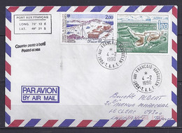 TAAF N° 146/127 SUR LETTRE DE PORT AUX FRANCAIS/4.2.90 - Lettres & Documents