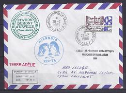 TAAF N° 147 SUR LETTRE DE DUMONT D URVILLE/28.2.89 - Lettres & Documents
