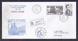 TAAF N° 151/PA111 SUR LETTRE REC. DE DUMONT D URVILLE/20.1.90  // 40°  EXPEDITION - Lettres & Documents