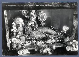 °°° Cartolina - Palermo Statua Di S. Rosalia Nel Santuario Sul Monte Pellegrino Nuova (l) °°° - Palermo