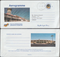 Émirats Arabes Unis. Aérogramme Dubai 2000, The 6th International Aerospace Exhibition, Avions, Aigle - Airplanes