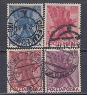 Pologne N° 351 / 54 O Centenaire De  L' Insurrection De 1830,  Les 4  Valeurs Oblitérées TB - Gebruikt