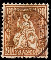 Switzerland Schweiz 1862 60c. Zum. 35, SG 59, Mi. 27, Used - Used Stamps