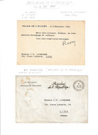 René COTY.....dossier Avec 2 Fdc,1enveloppe En Franchise Et Un Remerciement Avec SIGNATURE........... - Unclassified