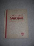 Catalogue Etablissements Sisson Lehmann Charleville Ardennes Materiel De Decapage Sablage P68 1929 TBE - 1900 – 1949