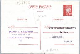 12 Saint AFRIQUE - Martin & VIGOUROUX - Place Hôtel De Ville - Entiers Postaux (état : Accrocs) - Autres Communes