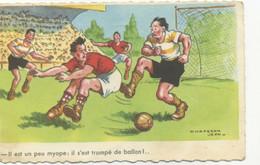 ILLUSTRATEUR - Jean CHAPERON - Il Est Un Peu Myope : Il S'est Trompé De Ballon! (HUMOUR/FOOTBALL) - Chaperon, Jean