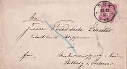 ALLEMAGNE  1882 LETTRE DE BUK - Storia Postale