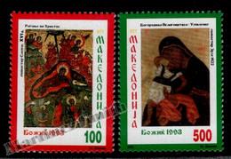 Macedoine - Macedonia 1992 Yvert 2-3, Christmas - MNH - Macedonië