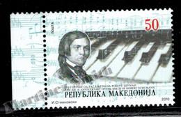 Macedoine - Macedonia 2010 Yvert 527, Robert Schumann, German Composer, Music - MNH - Macedonië