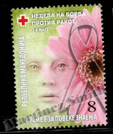 Macédoine - Macedonia 2011 Charity Yvert 129, Fight Against Breast Cancer Week - Bienfaisance - MNH - Macedonia