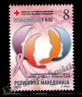 Macédoine - Macedonia 2014 Charity Yvert 140, Fight Against Breast Cancer - Bienfaisance - MNH - Macedonia