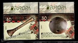 Macédoine - Macedonia 2014 Yvert 667-68, Europa Cept. National Musical Instruments - MNH - Macedonië