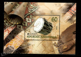 Macédoine - Macedonia 2014 Yvert BF 27, Europa Cept. National Music Instruments - Miniature Sheet MNH - Macedonië