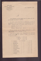 """Lettre à En-tête """" Collège Saint-Charles """" à Bordighera Italie Du 5 Septembre 1931 - Unclassified"""