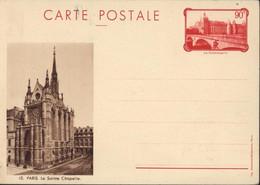 Entier La Conciergerie 90c Rouge CP Sépia 10 Paris La Sainte Chapelle Neuve Storch F1e - Cartes Postales Types Et TSC (avant 1995)
