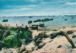 CARTE POSTALE 10CM/15CM PHOTO COULEUR CHEVOJON 7 : OMAHA BEACH  06 JUIN 1944 APRES LES PREMIERS COMBATS NORMANDIE FRANCE - Oorlog 1939-45