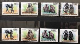 BURUNDI 2011 - NEUF**/MNH - 2 Séries Complètes Mi 2078 / 2081 - DENTELE Et IMPERF - SINGES - CV 19 EUR - Monkeys