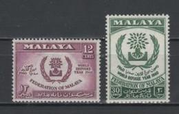 (S0602) FEDERATION OF MALAYA, 1960 (World Refugee Year). Complete Set. Mi ## 15-16. MNH** - Federation Of Malaya