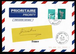 976 MAYOTTE Lettre Au Tarif 0,50€  Carte Ile + Luquet  KANI-KELI 25-8-2004 - Non Classés