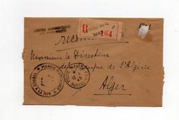 !!! LETTRE RECO EN FRANCHISE DU 13/1/1945, CACHETS BUREAU NAVAL 83 (ORAN) ET CENTRE ADMIN DES SOUS MARINS - WW II