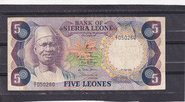 Sierra Leone  5 Leones 1978  Replacement  Z1 Rare - Other - Africa