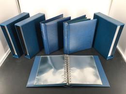 3 Lindner ETB Classic Album/ Kassette Blau Mit Je 20 Hüllen Gebraucht (6236 - Binders Only