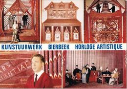 BERKENHOF-BIERBEEK - Détails De L'Horloge Artistique, Exécutés En Allumettes Par J. Pardon - Oblitération De 1973 - Bierbeek