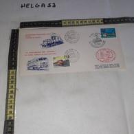 FB5496 REP. ITALIANA UDINE VILLACH 1989 TIMBRO TARGHETTA FERROVIERI ITALO-AUSTRIACI INCONTRO FILFER 150' ANNIV. FERROVIE - 1981-90: Marcophilia