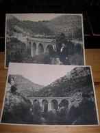 2 Grande Photo 12x17 Entre St Saint Pons Et St Chinian Le Pont Du Poussarou Etat Correct Trace De Colle Et Manque Sur 1 - Saint-Pons-de-Thomières