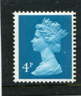 GREAT BRITAIN - 1981  4p  MACHIN  2B  PERF  15x14  MINT NH  SG X862 - Série 'Machin'