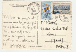 TAAF-SUR CP-MANCHOTS ROYAUX- N° 4 & N°17  ARCHIPEL KERGUELEN 10/01/1965 TBE - Covers & Documents