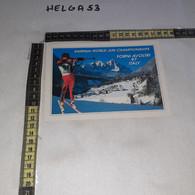 FB5531 REP. ITALIANA FORNI AVOLTRI 1997 BIATHLON 1997 CAMPIONATI MONDIALI JUNIORES TIMBRO TARGHETTA - 1991-00: Marcophilia