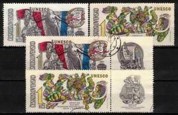 Tchécoslovaquie 1971 Mi 1992-3+Zf (Yv 1840-1+vignettes), Obliteré, - Used Stamps