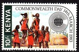 Kenya, 1983, Mi 258, Commonwealth Day, Dancing Massai, 1v Out Of Set, MNH - Danza