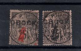 Obock_  (1904) Surchagé  N° 25/26 - Gebruikt