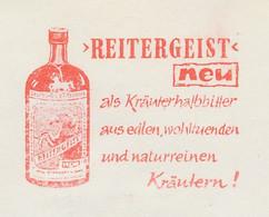 Meter Cut Germany 1964 Herbal Liqueur - Bitter - Reitergeist - Horse - Vini E Alcolici