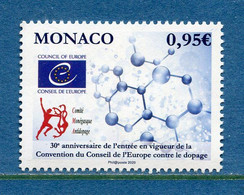⭐ Monaco - YT N° 3225 - Neuf Sans Charnière - 2020 ⭐ - Ungebraucht