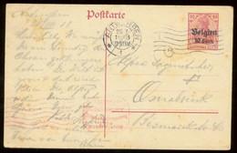 17158 Deutsche Besetzung Belgien GS Karte Antwerpen - Osnabrück 1918,  Bedarfserhaltung. - Occupazione 1914 – 18