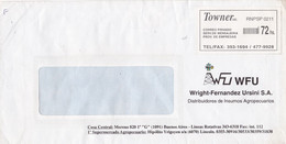 """ARGENTINE. """"TOWNER SRL CORREO PRIVADO"""" RARISIME COURRIER PRIVÉ. ENVELOPPE COMMERCIAL COVER, CIRCULEE.- LILHU - Lettres & Documents"""