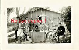 CARTE PHOTO FRANCAISE - POILUS AVEC GRAMOPHONE ET PHOTOGRAPHE A TRIGNY PRES DE MUIZON - REIMS MARNE - GUERRE 1914 1918 - Weltkrieg 1914-18