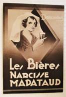 ANCIEN DEPLIANT DE L USINE DE BIERE NARCISSE MAPATAUD BRASSERIE A LIMOGES- - Advertising