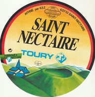 Rare étiquette 19 Cm  Fromage St Nectaire Toury - Cheese